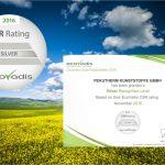 Nachhaltigkeit: pekutherm erhält erneut silbernes EcoVadis-Zertifikat